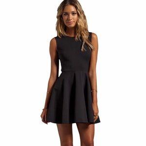 DVF Black Sleeveless Jeannie Fit Flare Mini Dress